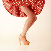 picture of pinup girl  - Vintage pinup style - JPG