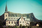 Vagan Church In Lofoten Islands, Norway poster