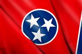 stock photo of memphis tennessee  - This is an illustration of folded flag of Tennessee  - JPG