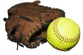 Catcher's Glove And Softball