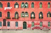 image of duplex  - Duplex colored house on the island of Murano near Venice in Italy - JPG