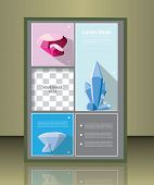 stock photo of placeholder  - Vector brochure or magazine cover  template with gems - JPG