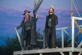 stock photo of bandit  - The hanging of a bandit in the old west - JPG