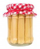 foto of ear candle  - Baby corn preserved in glass jar - JPG
