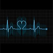stock photo of electrocardiogram  - Illustration of medical electrocardiogram  - JPG