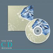 stock photo of priceless  - modern design for CD cover with diamond element - JPG