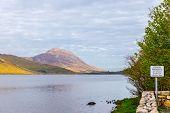 pic of galway  - Idyllic Kylemore Lough in Connemara in County Galway Ireland - JPG