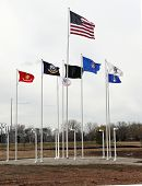 Flags Fly At The Fields Of Honor Military Veterans Museum