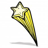 stock photo of shooting stars  - cartoon shooting star - JPG