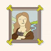foto of mona lisa  - Painting Mona Lisa Theme Elements Vector - JPG