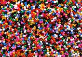 stock photo of thermoplastics  - Colorful industrial plastic granules - JPG