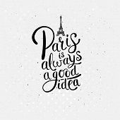 picture of dots  - Simple Graphic Design for Paris is Always a Good Idea Concept with Eiffel Tower on Dotted Off White Background - JPG