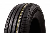 picture of asymmetric  - tires with asymmetric tread on a white background - JPG