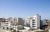 image of larnaca  - rooftop cityscape view of Larnaca Cyprus hotels condos apartments offices - JPG