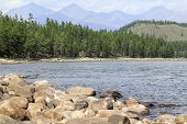 pic of raft  - river Oka in the Tien Shan used for rafting - JPG