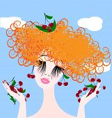picture of frizzle  - head and hands of red - JPG