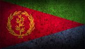 image of eritrea  - Flag of Eritrea with old texture - JPG
