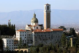 foto of vicenza  - Vicenza Italy Monte Berico basilica dedicated to our Lady and the convent of the friars - JPG