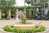 pic of fountain grass  - Fountain with little angels in the Ambassador hotel in south Pattaya - JPG