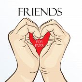 pic of friendship day  - illustration of beautiful greeting for Friendship Day - JPG