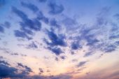picture of cloudy  - Beautiful evening cloudy sky - JPG