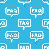 foto of faq  - Text FAQ in chat bubble - JPG