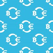 picture of bitcoin  - Image of exchange between bitcoin and euro symbols - JPG