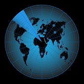 picture of continent  - Radar map of the world - JPG