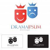 stock photo of drama  - Drama art generic abstract logo concept illustration  - JPG