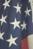 picture of democracy  - Patriotic holiday background of the american flag closeuplow contrast for text overlay - JPG