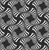 stock photo of striping  - Geometric background with black and white stripes - JPG