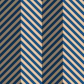 ������, ������: Retro Fold Blue Striped Zigzag