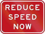 pic of reduce  - An Australian road sign - JPG