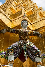 stock photo of garuda  - Garuda in grand palace of Bangkok Thailand - JPG