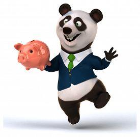 image of panda  - Fun panda - JPG