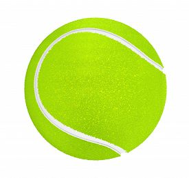 stock photo of olympiade  - Closeup of tennis ball on a white background - JPG