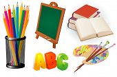 Elementary school design vector elements set.