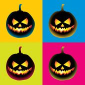 stock photo of pop art  - Pop Art Pumpkin - JPG