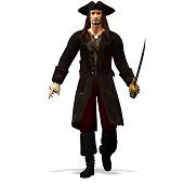 foto of pirate ship  - Priat with saber in the hand well - JPG