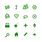 green web icons