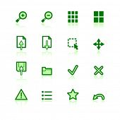 green viewer icons