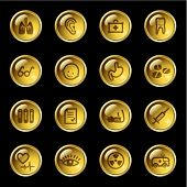 Gold drop medicine icons