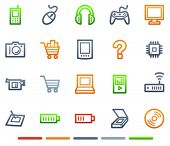 Electronics web icons, colour symbols series