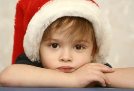 pic of sad christmas  - Sight of the boy in a New Year