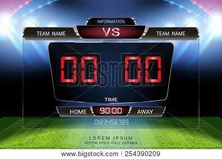 Digital Timing Scoreboard Football Match
