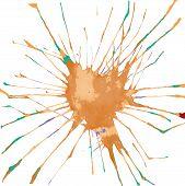 Watercolor Handdrawn Blot. Colorful Ink Drop. Vector Illustration poster