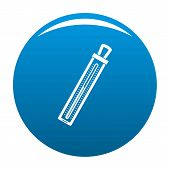 Old Thermometer Icon. Simple Illustration Of Old Thermometer Icon For Any Design Blue poster