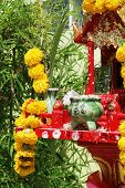 Spirit House In Thailand - Travel And Tourism. poster