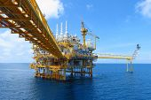 Offshore Construction Platform For Production Oil And Gas, Oil And Gas Industry And Hard Work,produc poster