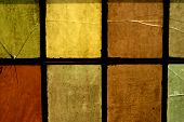 Abstract texture of colorful church window